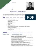 2013 - CV - Mohamed TAZI - Communication & Marketing Manager