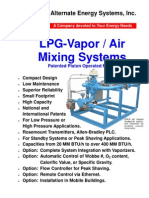 LPG vapour air mixing systems