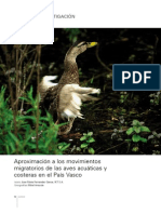 Aproximación a los movimientos migratorios de las aves acuáticas y costeras en el País Vasco
