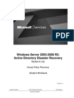 Active Directory Disaster Recovery - GPO Restore