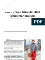 Cele 9 greÅ-eli fatale din stilul vestimentar masculin