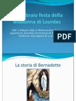 11 Febbraio Festa Della Madonna Di Lourdes