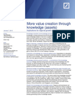 More value creation through knowledge (assets) - DB Research