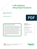 Data Center VRLA Battery End-of-Life Recycling Procedures