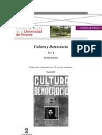 Revista Cultura y Democracia