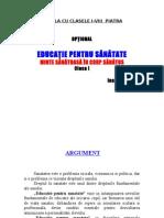 OPTIONAL EDUCATIE PENTRU SANATATE CLASA I