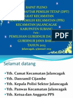 Presentasi Pleno DPT Pilgub 2013 & Filosofi Baju Seragam PPK dan PPS