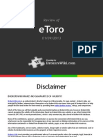 Review of eToro Forex 2013