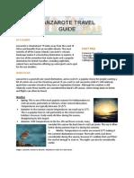 Hotels4u Lanzarote Travel Guide
