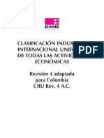 Clasificación CIIU revisión 4ac
