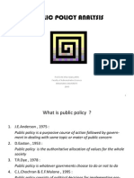 public policy analysis