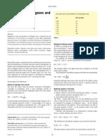 Analysis of blood gases and acid–base balance
