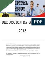 Proyeccción gastos 2013