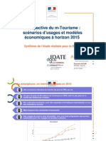 Prospective du m-Tourisme - scénarios d'usages et modèles économiques à horizon 2015