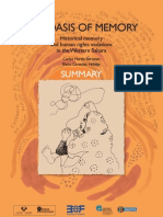 The Oasis Of Memory (English Summary )