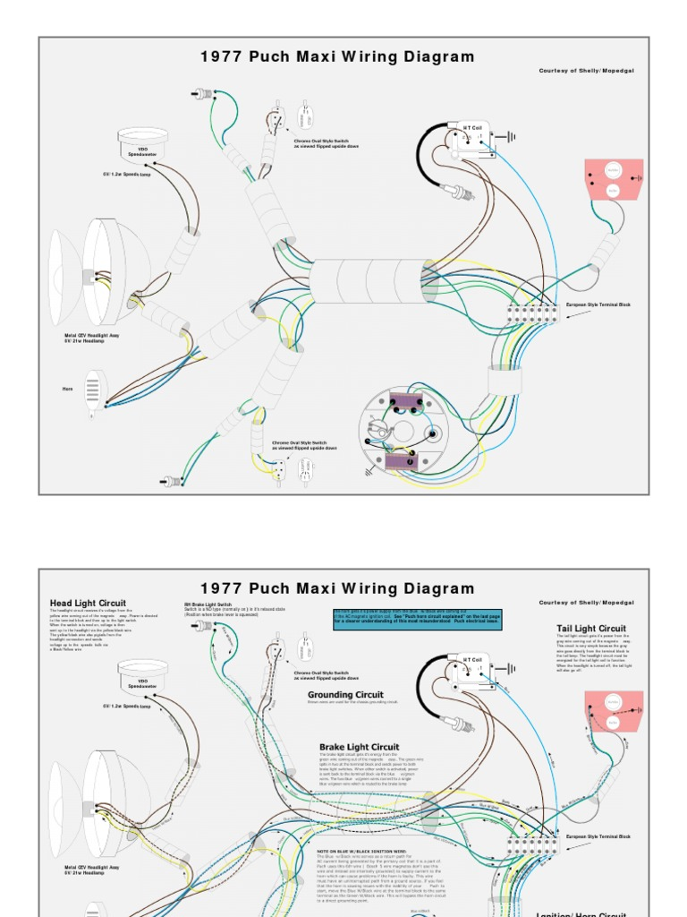 1977 Puch Maxi Moped Wiring Diagram