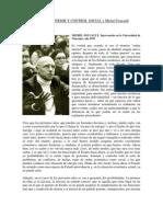 Nuevo Orden Interior y Control Social x Michel Foucault