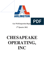 Gas Well Inspection Report (Chesapeake)