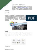 Accesibilidad de una Pagina Web