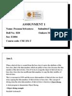 Assignment Cse 251 T