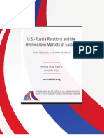 U.S.-Russia Relations and the Hydrocarbon Markets of Eurasia