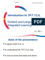 CLIL CONTENT LANGUAGE INTEGRATED LEARNING