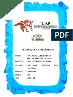 TRABAJO ACADEMICO ACTIVIDADES II EDUCACIÓN PARA LA SALUD