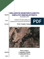 55154562 Ingegneria Civile Strutture Idrauliche Relazione Dimension Amen to Impianto Idroelettrico UniRomaTre