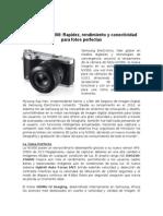 Samsung NX300, Rapidez, Rendimiento y Conectividad Para Fotos Perfectas