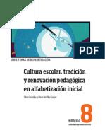 cultura escolar, tradicion y renovación pedagógica en alfabetización inicial