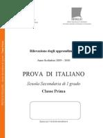 Italiano SNV0910 Classe I Sec Primo Grado