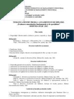 Tematica Licenta 2012 TDPT + TTC