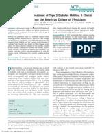 ACP Guidelines Oral Pharmacologic Treatment Diabetes Mellitus