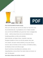 Bier Oder Wasser