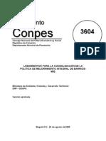 Lineamientos para la Consolidación de la Politica de Mejoramiento Integral de Barrios MIB