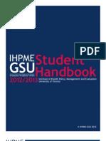 IHPME GSU Student Guide 2012-2013
