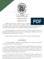Decisión del TSJ sobre la juramentación del Presidente Chávez