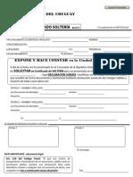 certificado solteria