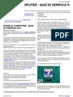 Guida al Computer - Quiz di verifica N°8