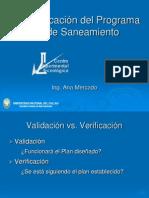 Validación y Verificación del Programa de Saneamiento