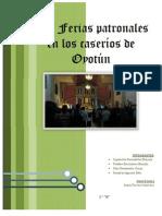 FIESTAS PATRONALES DEL DISTRITO DE  OYOTUN