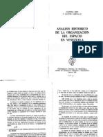 Josefina Rios y Gaston Carvallo Analisis Historico de La Organizacion Del Espacio i en Venezuela