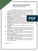 LOS 10 MANDAMIENTOS DEL ESTUDIANTE UNIVERSITARIO