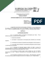 Portaria Normativa MEC 27 2012 Regulamenta Processo Seletivo Prouni 1-2013