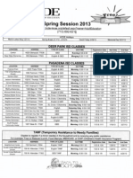 Harris County Department of Education Classes - Spring 2013