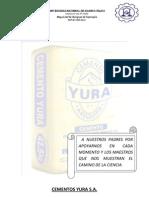 Trabajo de Tecnologia Del Concreto (Cemento Yura)