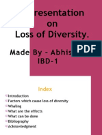 Loss of Diversity