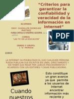 CRITERIOS-CONFIABILIDAD DE INFORMACION EN INTERNET