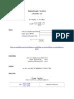 Engine Design Calculator