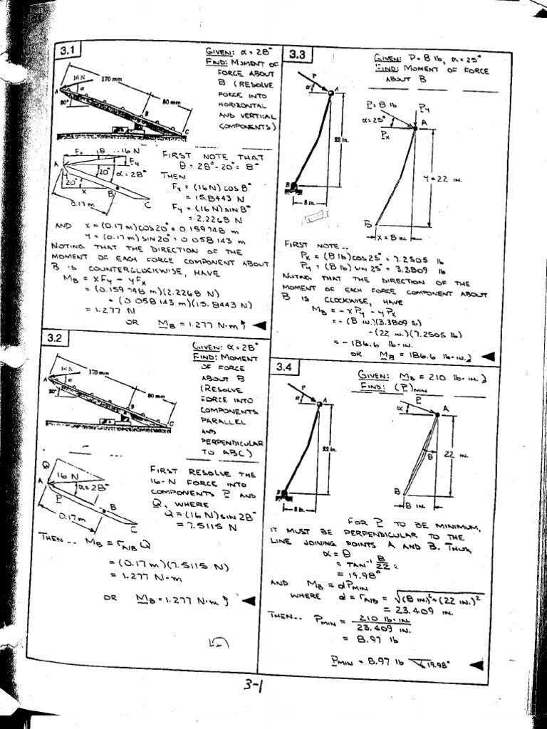 Chapter 3 solutions Vector Mechanics